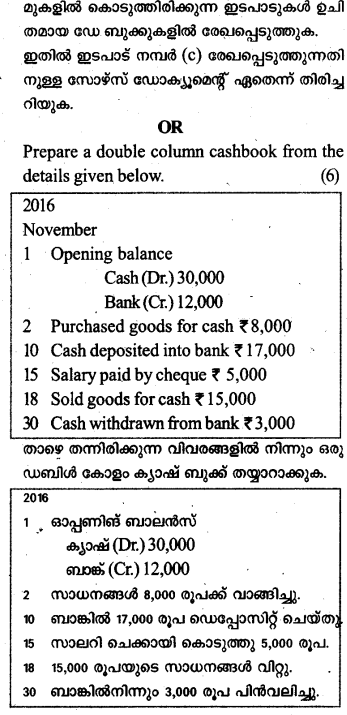Plus One Accountancy Previous Year Question Papers and Answers 2017 25