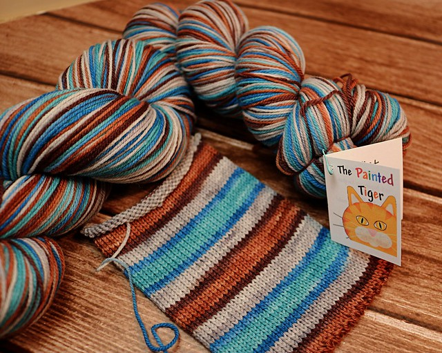 Derelict Door Targhee Sock Yarn - January 2019 Tiger Club