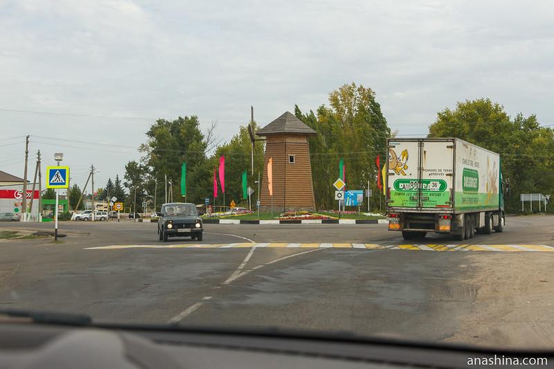 Автомобильный круг в Воробьевке, Воронежская область