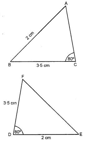 Selina Concise Mathematics class 7 ICSE Solutions - Congruency Congruent Triangles-ex1a