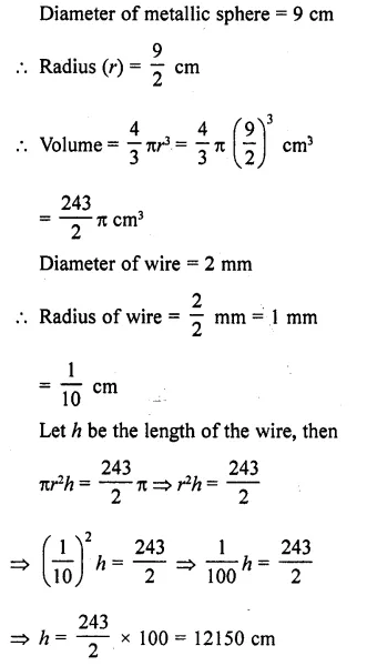 RD Sharma Class 10 Solutions Chapter 14 Surface Areas and Volumes Ex 14.1 14