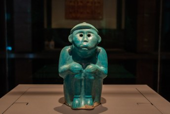 Turquoise-Glazed Monkey-Shaped Animal Figurine, Saljuq or Khwarazmshah, Iran (Kashan), 12th - 13th century