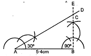 Selina Concise Mathematics Class 6 ICSE Solutions - Triangles (Including Types, Properties and Constructions) -b8