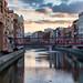 Girona. Puente sobre el río Onyar