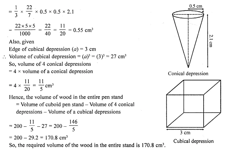 RD Sharma Class 10 Solutions Chapter 14 Surface Areas and Volumes Ex 14.2 35a