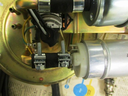 Reusable Hose Clamps Installed On Fuel Pump Outlet Hose-Leave Some Gap When Tightening