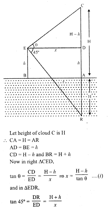 RD Sharma Class 10 Solutions Chapter 12 Heights and Distances MCQS - 14