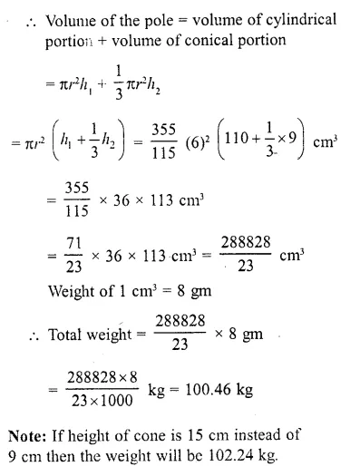 RD Sharma Class 10 Solutions Chapter 14 Surface Areas and Volumes  RV 51a
