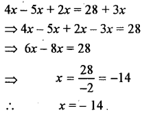 Selina Concise Mathematics class 7 ICSE Solutions - Simple Linear Equations (Including Word Problems) -b6