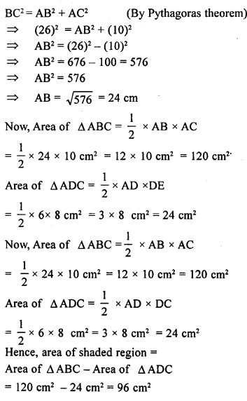 ML Aggarwal Class 9 Solutions for ICSE Maths Chapter 12 Pythagoras Theorem     ch1b