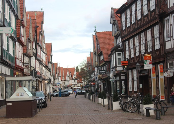 The old center of Celle, Germany