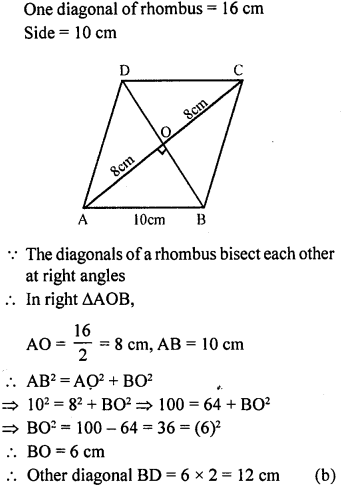 ML Aggarwal Class 9 Solutions for ICSE Maths Chapter 12 Pythagoras Theorem     mcq4