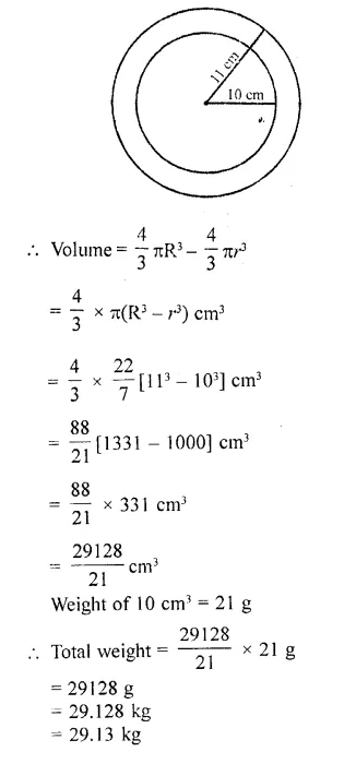 RD Sharma Class 10 Solutions Chapter 14 Surface Areas and Volumes  RV 27