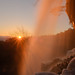 Waterfall with Sunset
