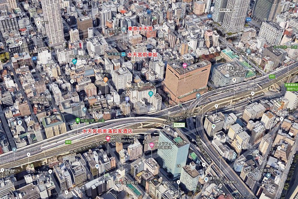 MIMARU Tokyo Nihombashi Suitengumae Map