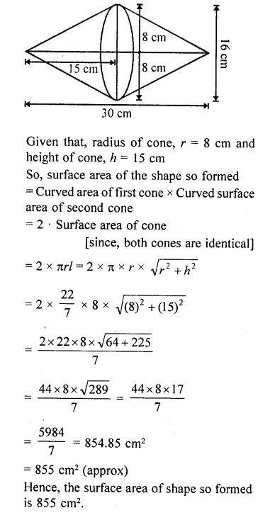 RD Sharma Class 10 Solutions Chapter 14 Surface Areas and Volumes  RV 73