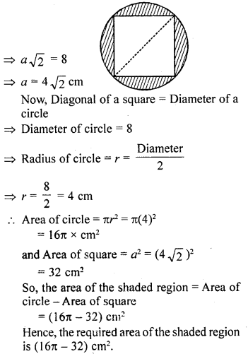 RD Sharma Class 10 Solutions Chapter 13 Areas Related to Circles Ex 13.1 24