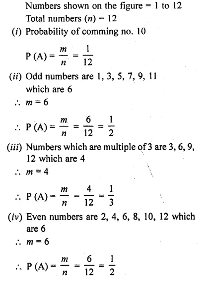 RD Sharma 10 Solutions Chapter 13 Probability