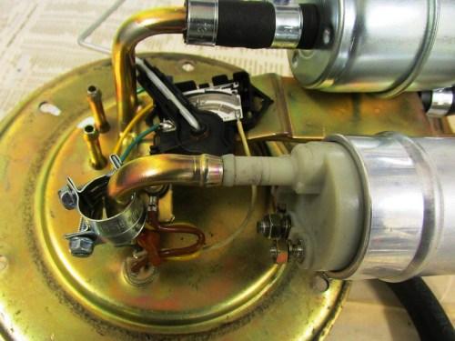 Fuel Pump Outlet Fits Flush Against Pipe