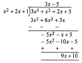 RBSE Solutions for Class 10 Maths Chapter 3 Polynomials Ex 3 2