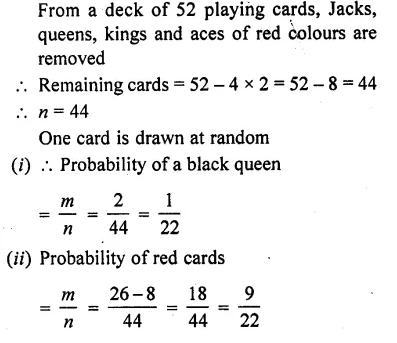 RD Sharma Class 10 Solutions Chapter 16 Probability Ex 16.1 30