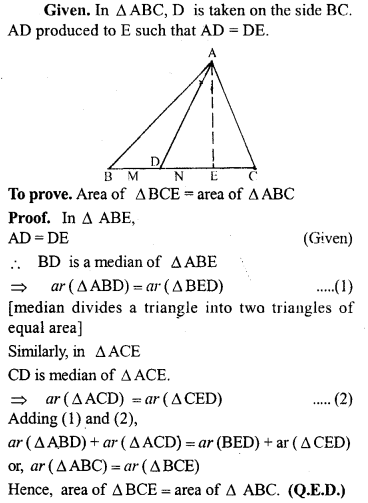 ML Aggarwal Class 9 Solutions for ICSE Maths Chapter 14 Theorems on Area     13