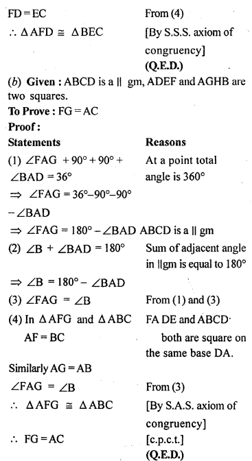 ML Aggarwal Class 9 Solutions for ICSE Maths Chapter 13 Rectilinear Figures  ex 22B