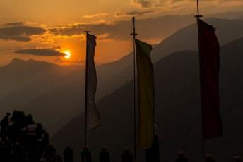 De zonsondergang gezien vanaf ons hotel.