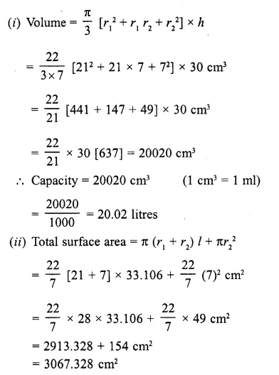 RD Sharma Class 10 Solutions Chapter 14 Surface Areas and Volumes  RV 59a