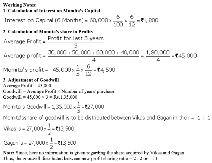 TS Grewal Accountancy Class 12 Solutions Chapter 5 Retirement Death of a Partner Q68.1