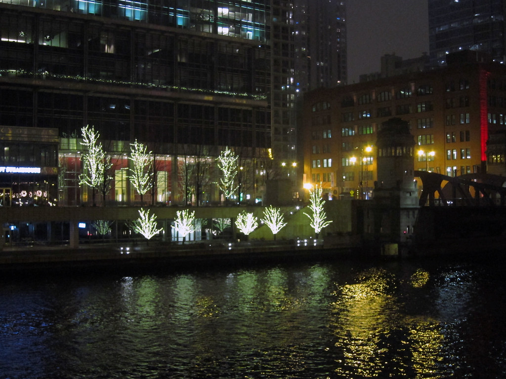 December evening on the Chicago River *EXPLORED*