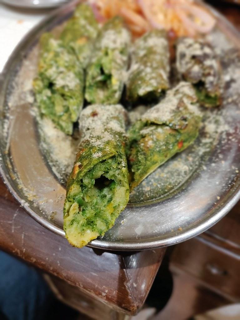 Spinach Seekh Kebab Bharawan Dhaba Amritsar India