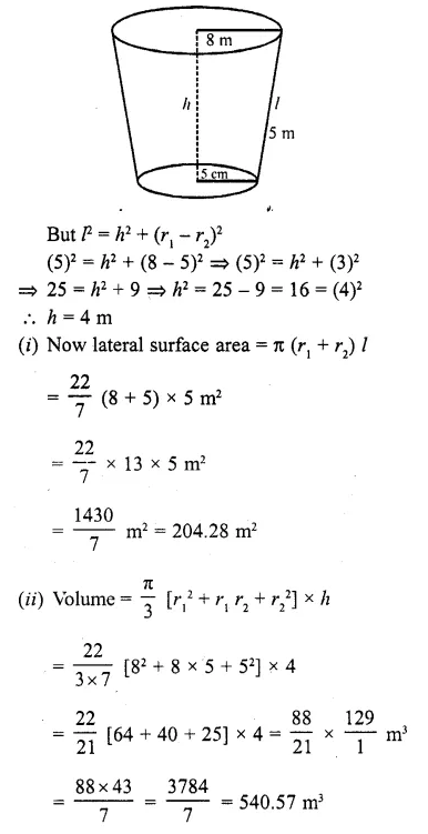 RD Sharma Class 10 Solutions Chapter 14 Surface Areas and Volumes  RV 60