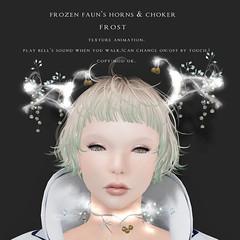 *NAMINOKE*Frozen Faun horn/choker frost