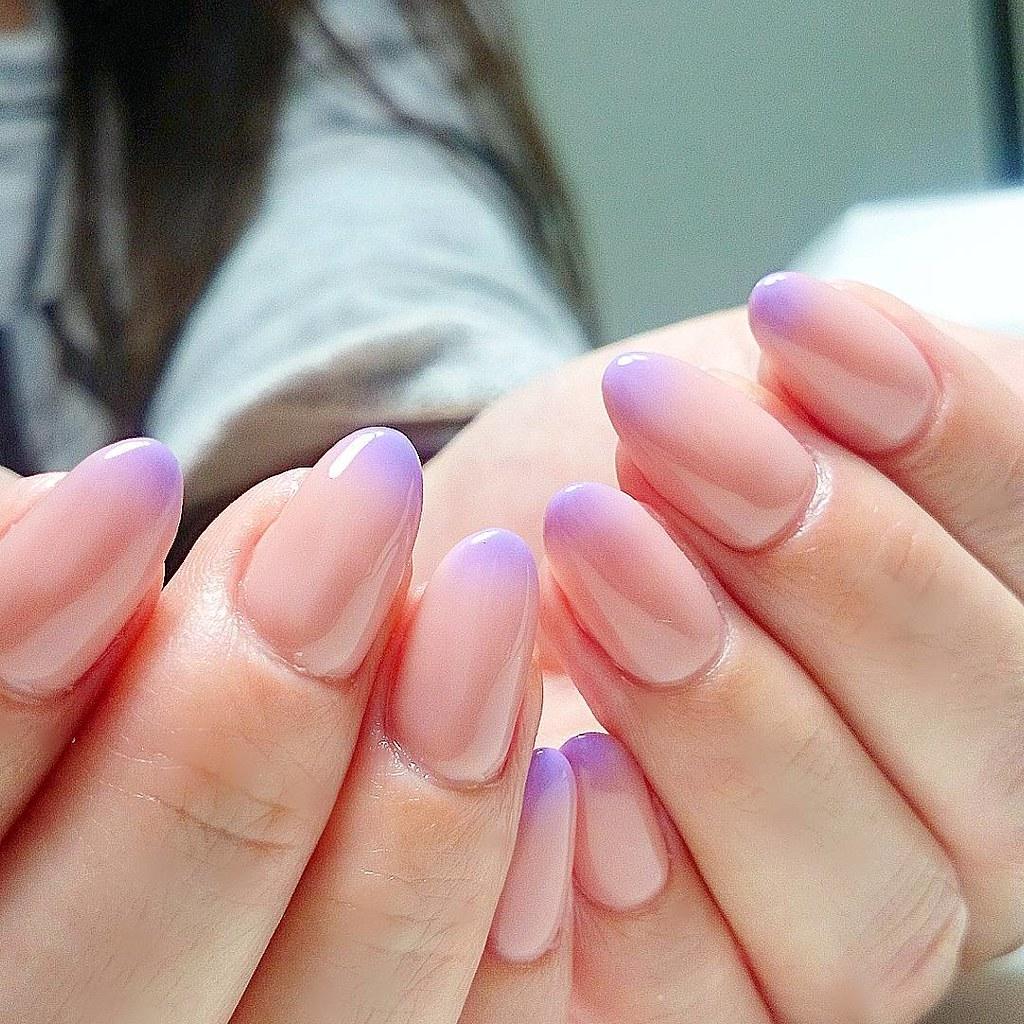 ♥ 漸層指甲的魅力!指上淡淡的暈開 13