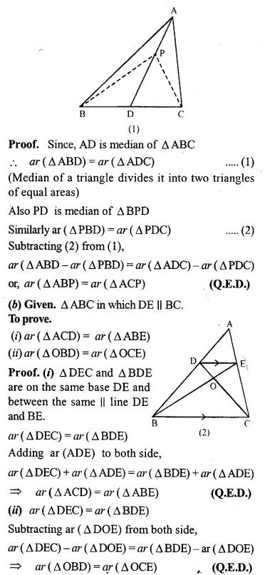 ML Aggarwal Class 9 Solutions for ICSE Maths Chapter 14 Theorems on Area     3b