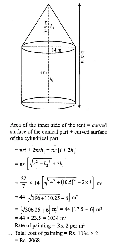 RD Sharma Class 10 Solutions Chapter 14 Surface Areas and Volumes  RV 64