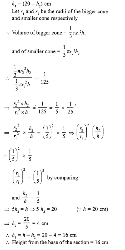 RD Sharma Class 10 Solutions Chapter 14 Surface Areas and Volumes Ex 14.3 6a