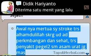 testimoni qnc jelly gamat obat stroke