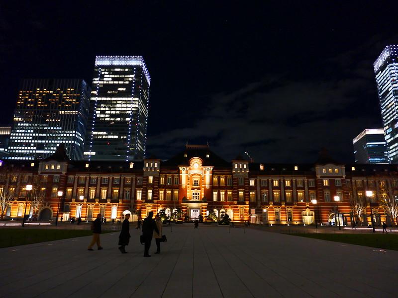 pop Tokyo Station night view