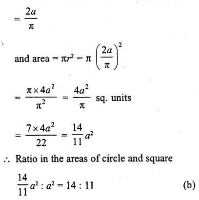 RD Sharma Class 10 Solutions Chapter 13 Areas Related to Circles MCQS -39a