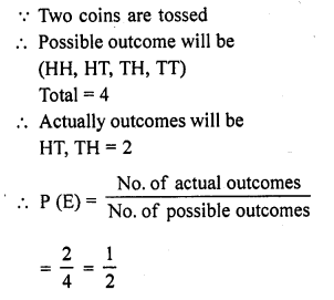RD Sharma Class 10 Solutions Chapter 16 Probability Ex