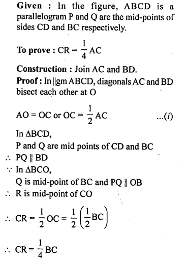 ML Aggarwal Class 9 Solutions for ICSE Maths Chapter 11 Mid Point Theorem    ct 6a