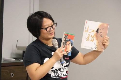 老師介紹特色畫風作品《小貓》和《俠王傳》
