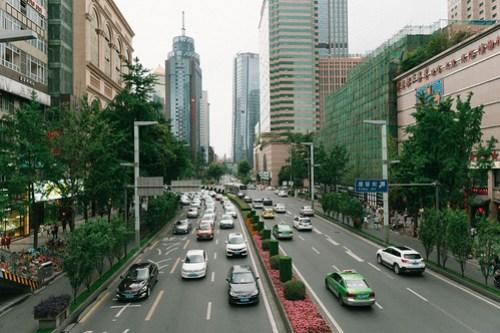 From sky bridge near Chunxi Road @ Chengdu, Sichuan