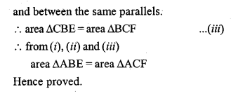 ML Aggarwal Class 9 Solutions for ICSE Maths Chapter 14 Theorems on Area    pq4a