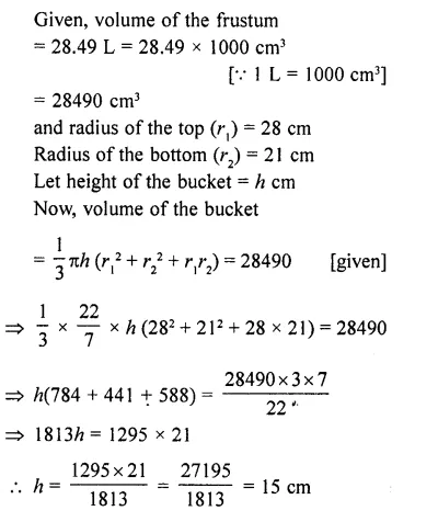 RD Sharma Class 10 Solutions Chapter 14 Surface Areas and Volumes  RV 71