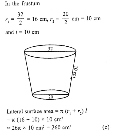 RD Sharma Class 10 Solutions Chapter 14 Surface Areas and Volumes MCQS 36