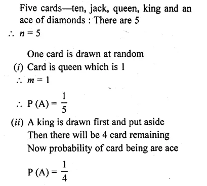 RD Sharma Class 10 Book Pdf Chapter 13 Probability