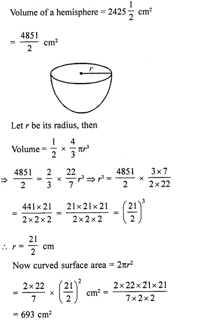RD Sharma Class 10 Solutions Chapter 14 Surface Areas and Volumes Ex 14.1 61